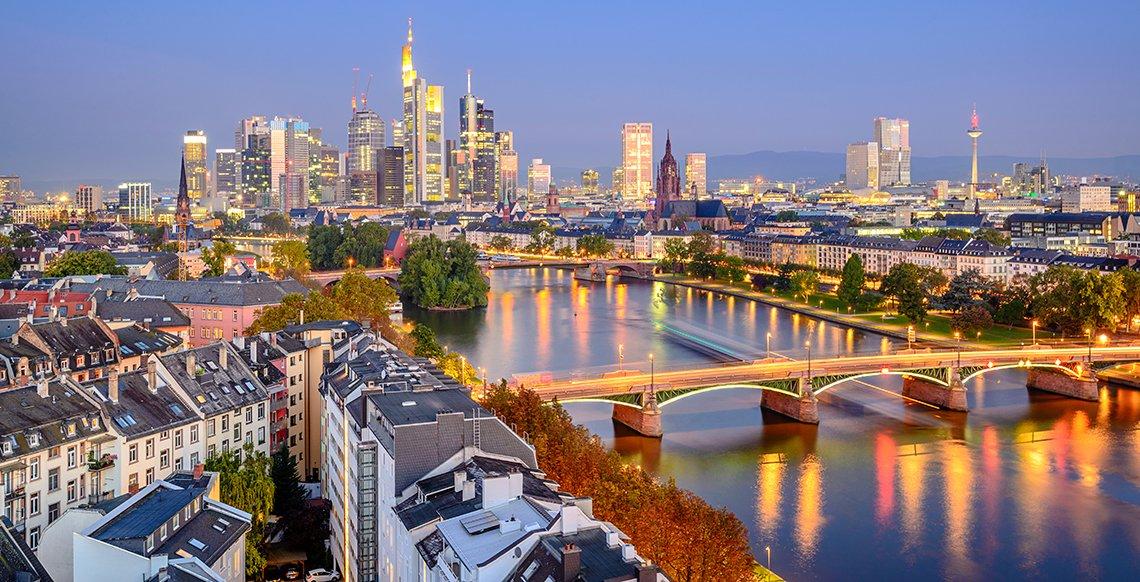 frankfurt şehir manzarası
